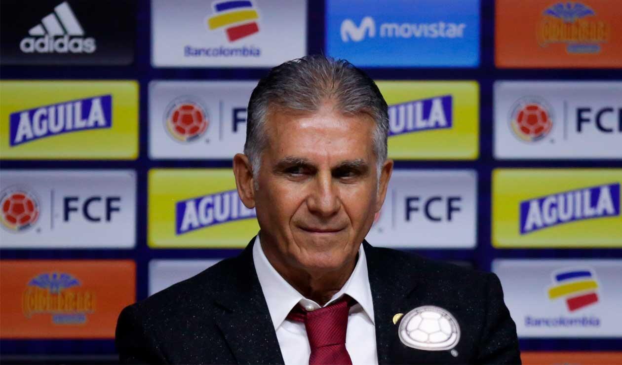 Carlos Queiroz cuando asumió como técnico de la Selección Colombia.