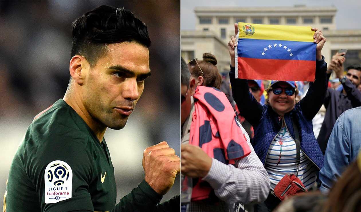 Falcao y su mensaje de apoyo a los ciudadanos de Venezuela
