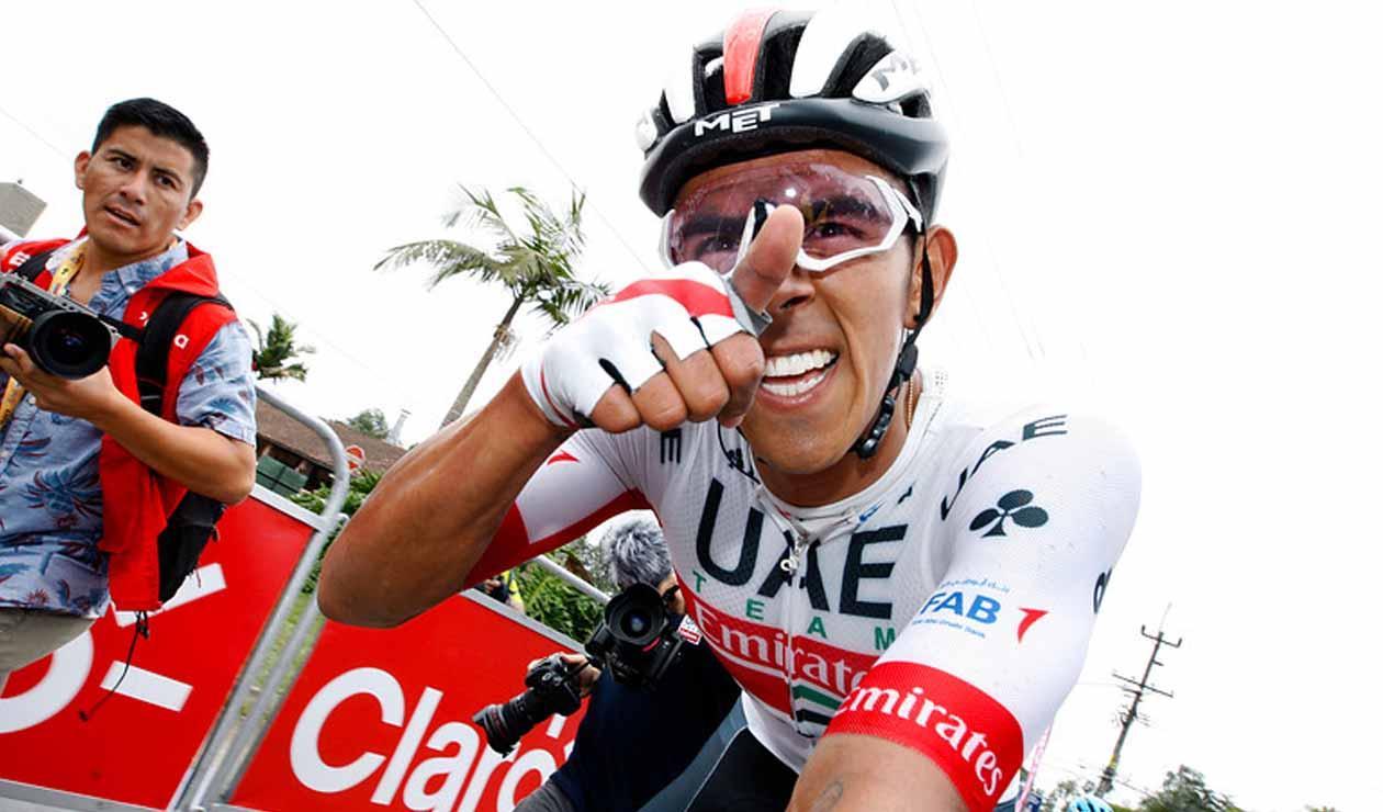 Sebastián Molano, ganador de la tercera etapa del Tour Colombia 2.1