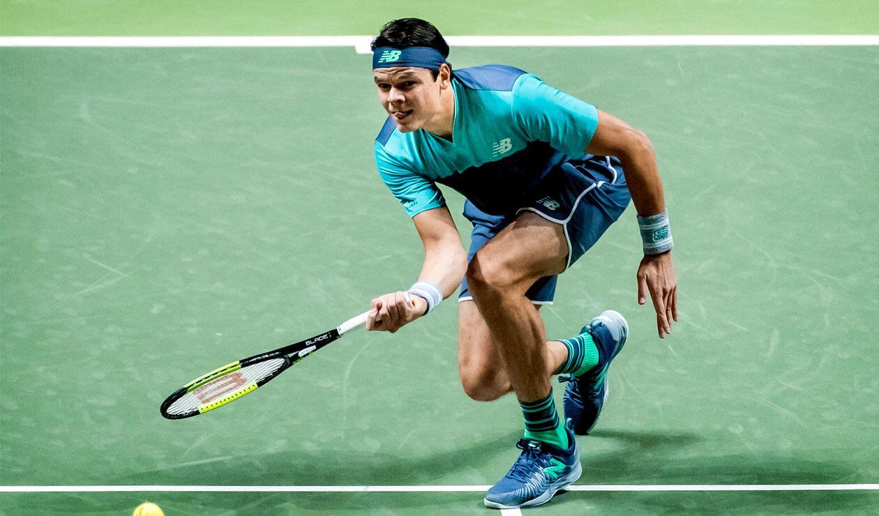 Milos Raonic ante el alemán Jan-Lennard en el ATP 500 de Dubai