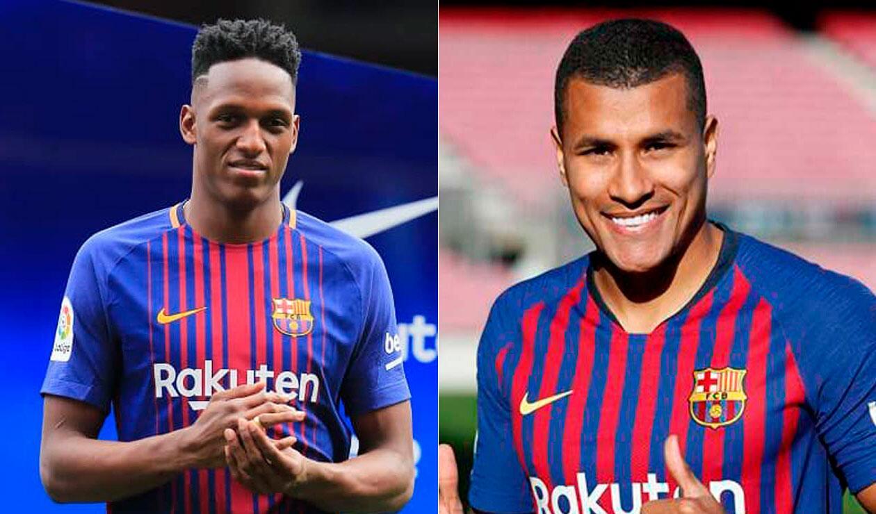 Yerry Mina y Jeison Murillo, únicos colombianos en jugar partidos oficiales con Barcelona