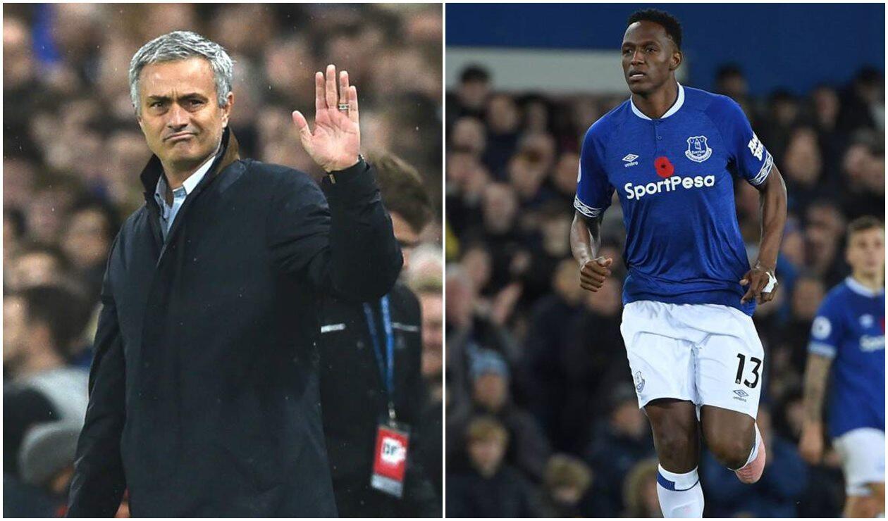 José Mourinho, el preferido de los hinchas del Everton de Yerry Mina