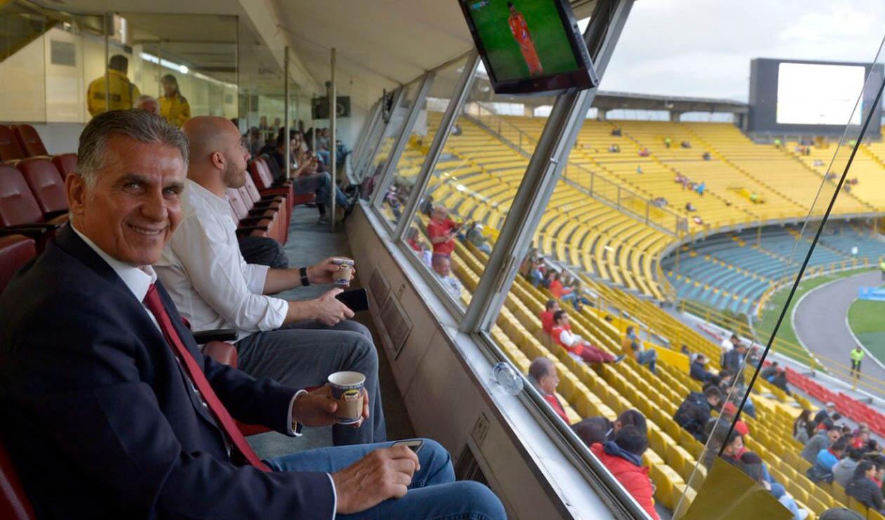 Carlos Queiroz - visita a El Campín
