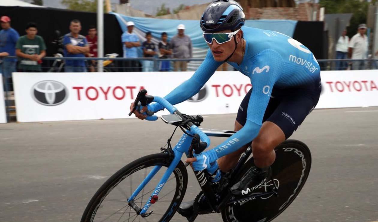 Winner Anacona en la 5 etapa de la Vuelta a San Juan