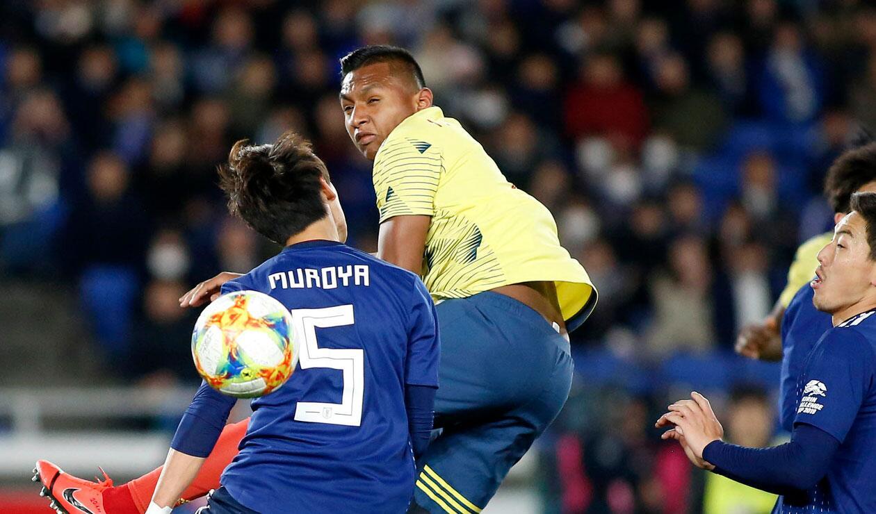 Alfredo Morelos, otro de los que tuvo minutos con Colombia ante Japón