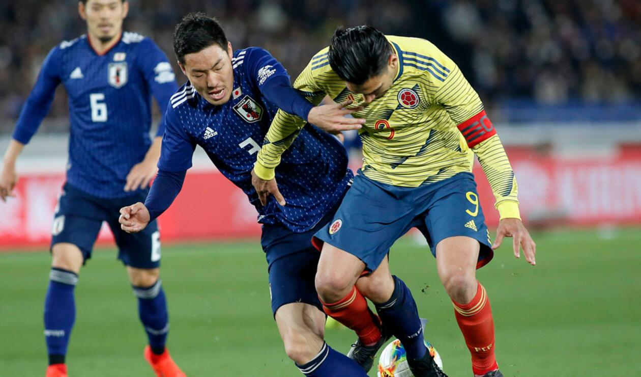 Falcao lució solo en el frente de ataque d Colombia ante Japón.