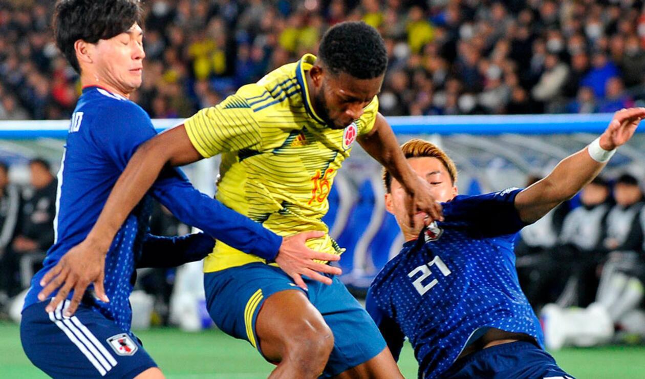 Pocas acciones de peligro tuvo Colombia en el inicio del partido ante Japón