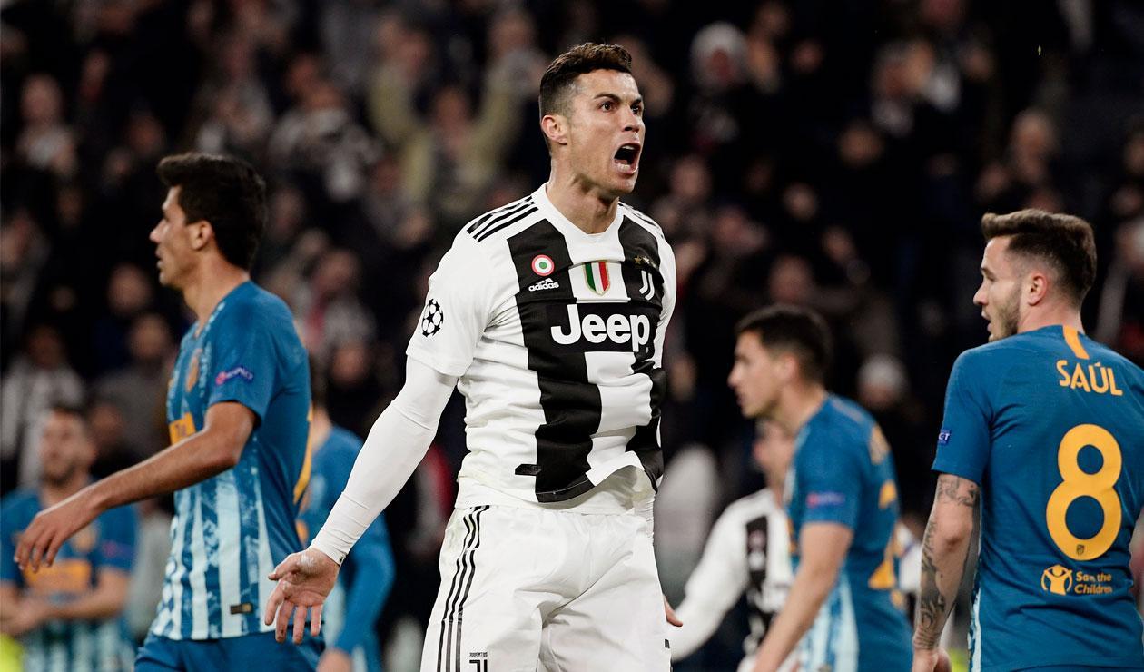 Cristiano Ronaldo abrió el marcador para la Juventus ante el Atlético de Madrid