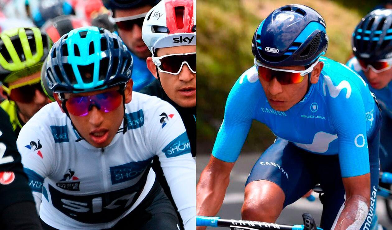 Egan Bernal y Nairo Quintana, los colombianos en el 'top' 10 de la París-Niza