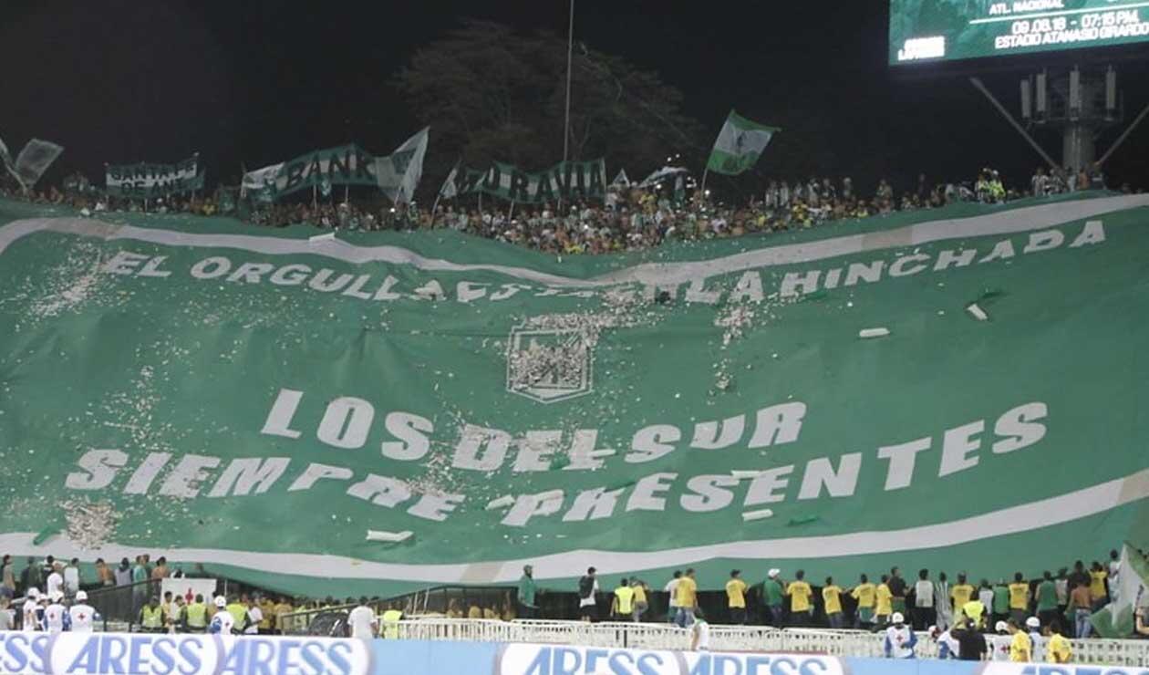 Atlético Nacional - Los del Sur - hinchas