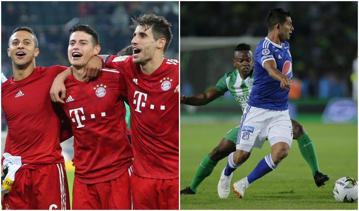 Bayern Múnich - Millonarios, Atlético Nacional