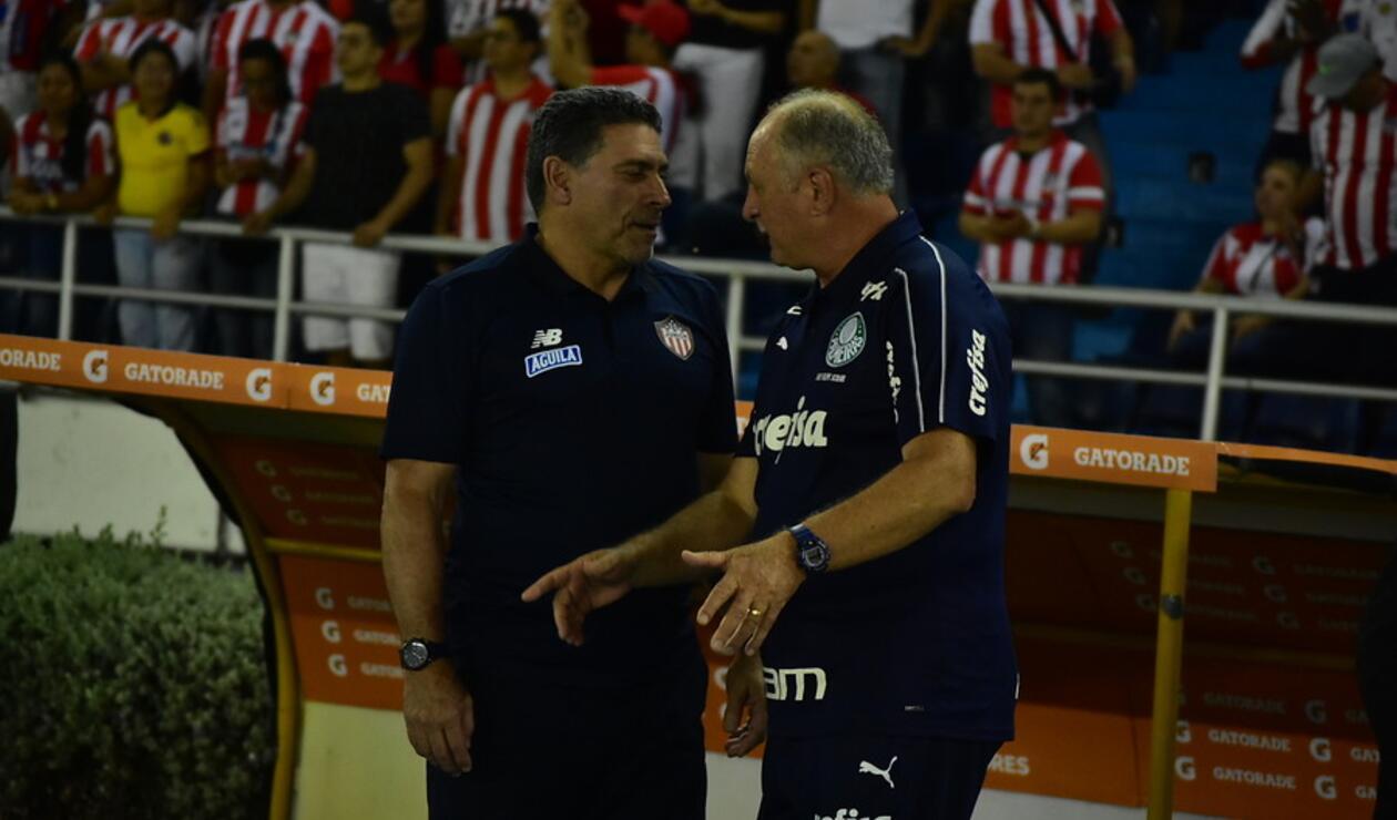 Luis Fernando Suárez y Luis Felipe Scolari
