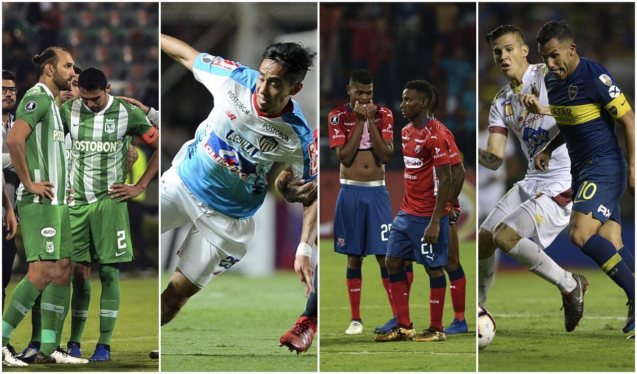 Atlético Nacional, Junior, Medellín y Tolima