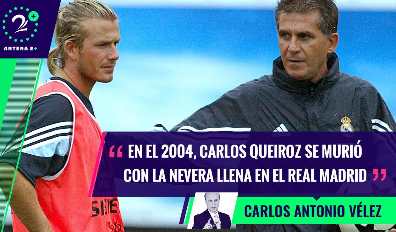 David Beckham y Carlos Queiroz