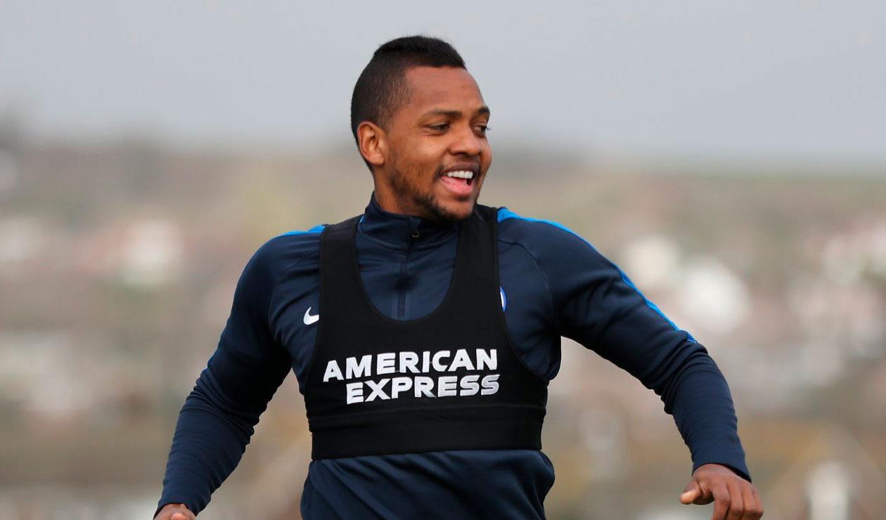 osé Heriberto Izquierdo en un entrenamiento del Brighton de la Premier League