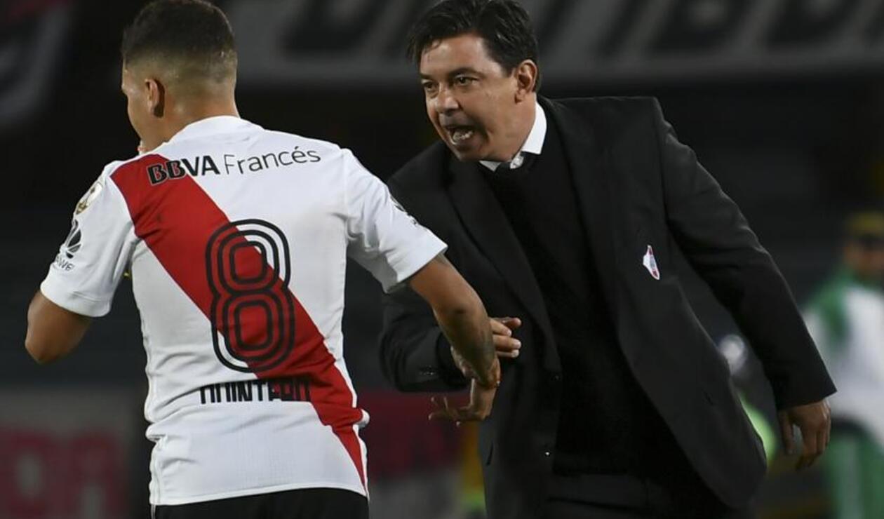 Juan Fernando Quintero y Marcelo Gallardo