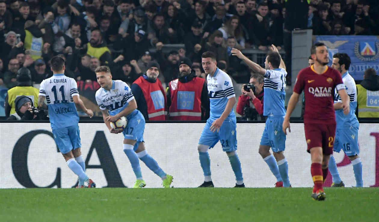 Lazio derrotó a Roma