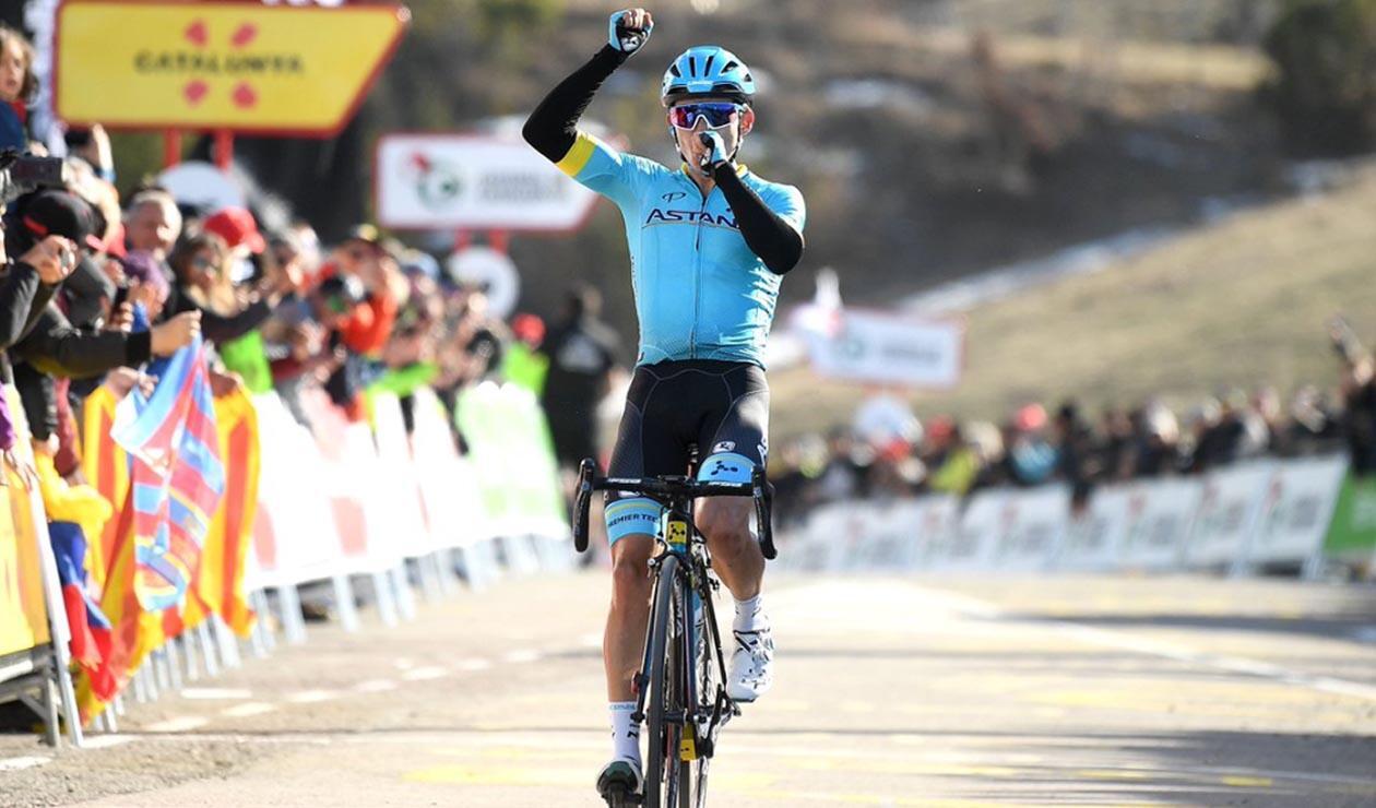 Miguel Ángel López, líder de la Vuelta a Cataluña