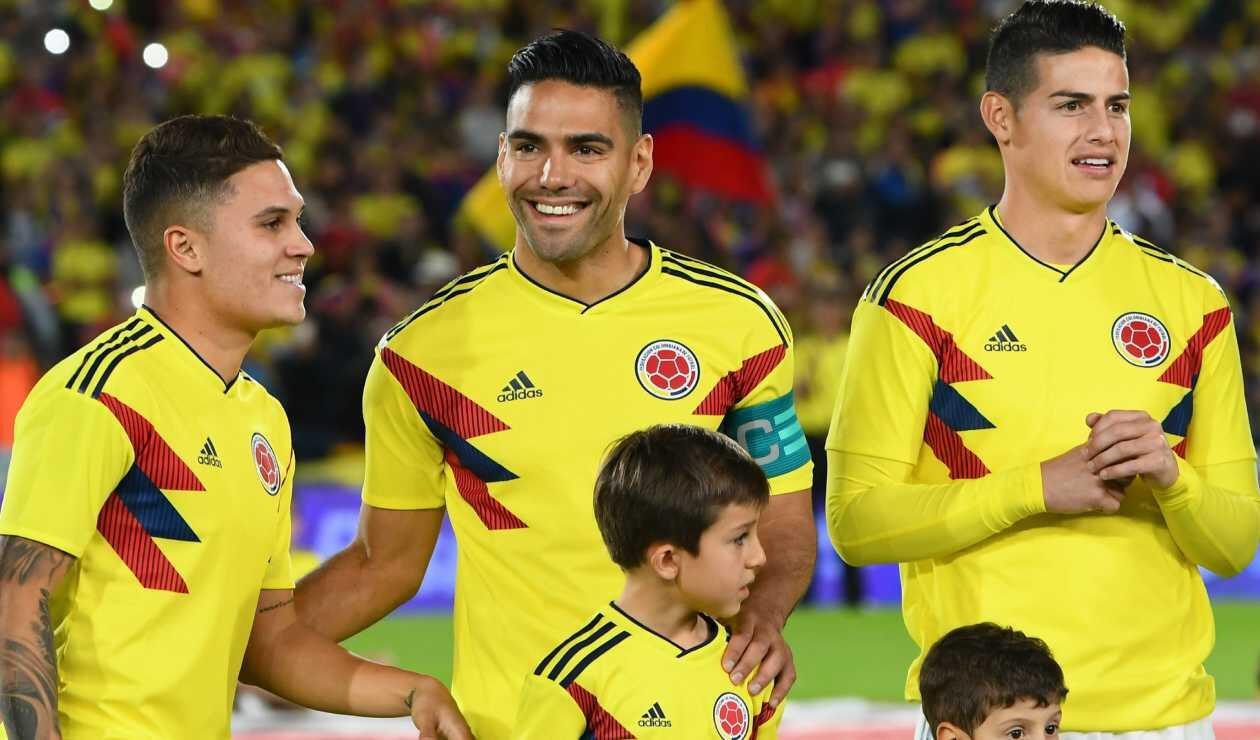 Juan Fernando Quintero, Falcao y James Rodríguez