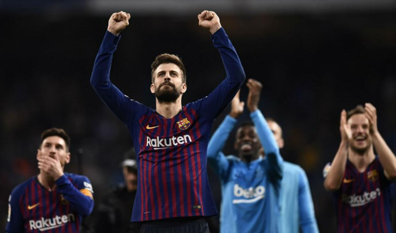 Gerard Piqué en clásico entre Barcelona y Real Madrid