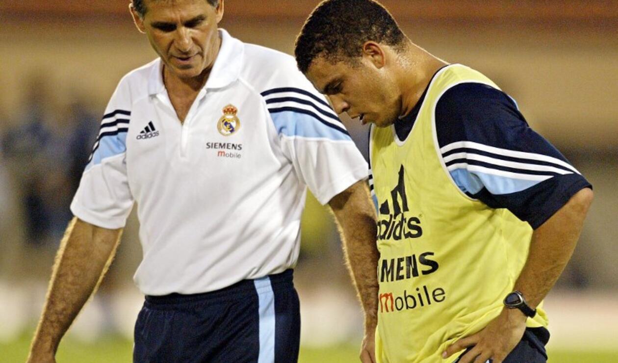 Carlos Queiroz dirigiendo al Real Madrid