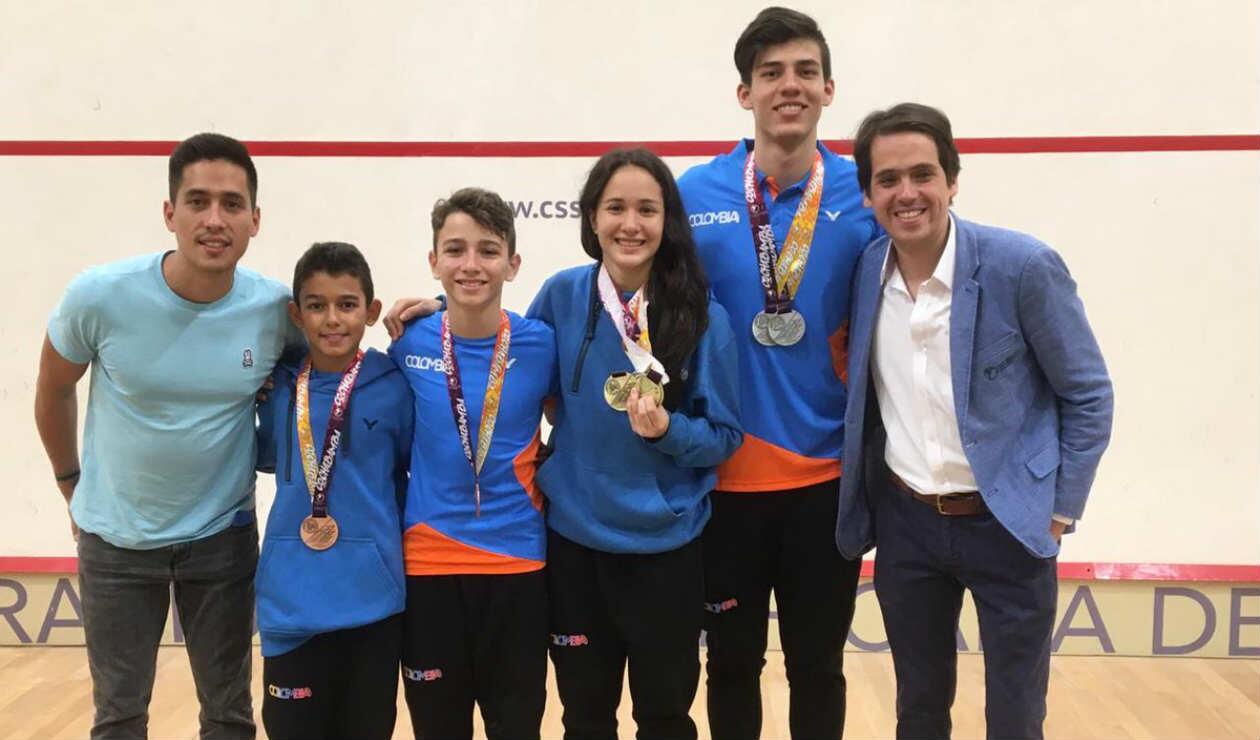Colombia se destacó en el Suramericano juvenil de Squash