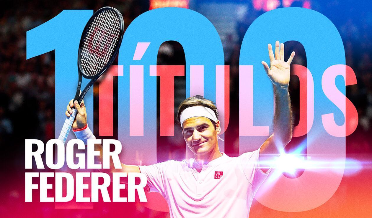 Roger Federer llegó al centenar de títulos en su carrera como profesional
