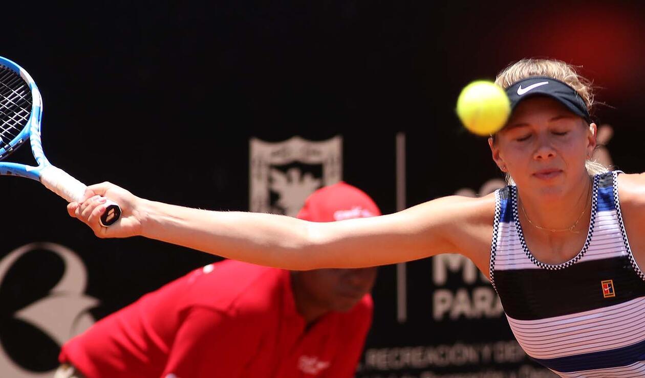La estadounidense Amanda Anisimova durante la final del Claro Open Colsánitas