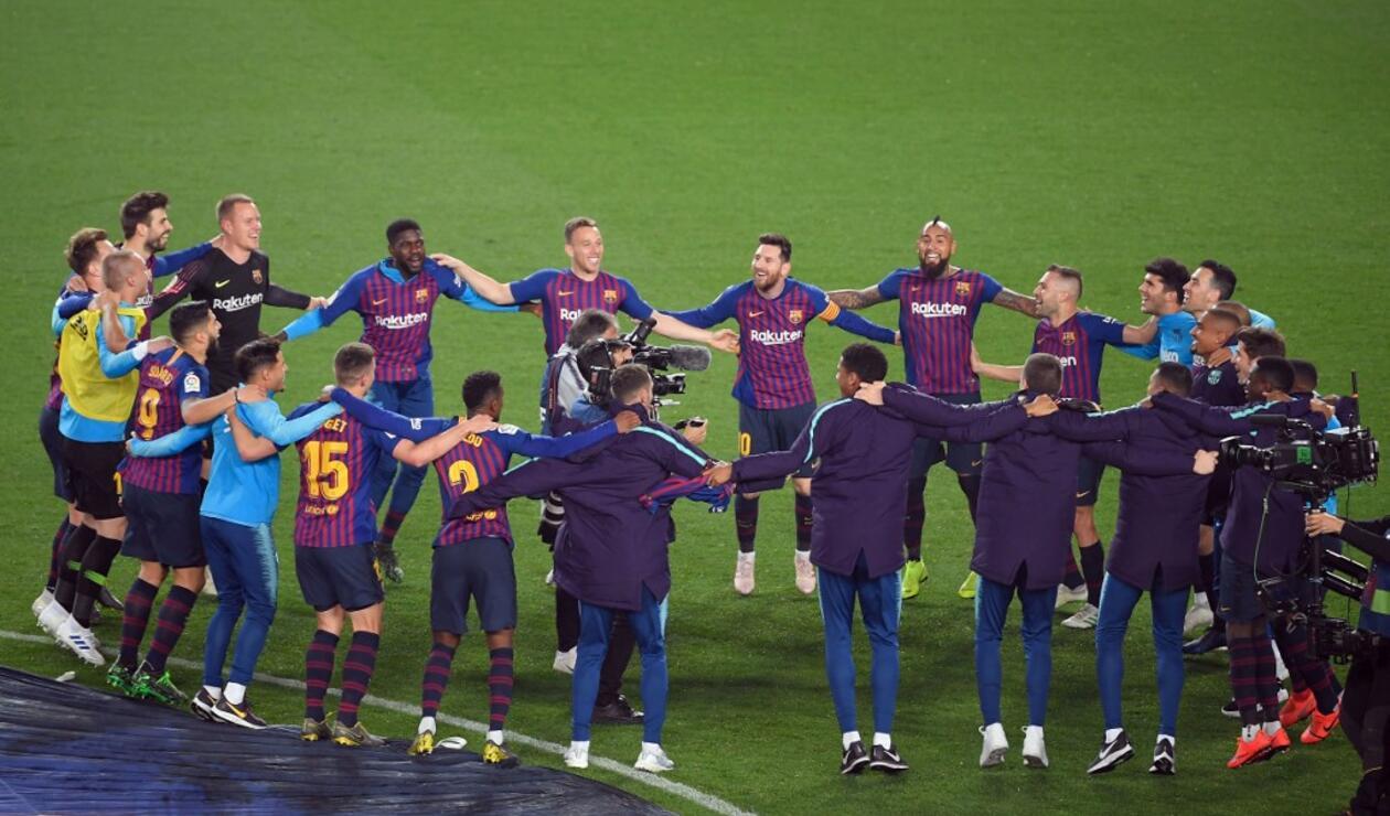 bonita y colorida diseño popular diseño innovador Barcelona campeón de la Liga Española: venció a Levante en ...