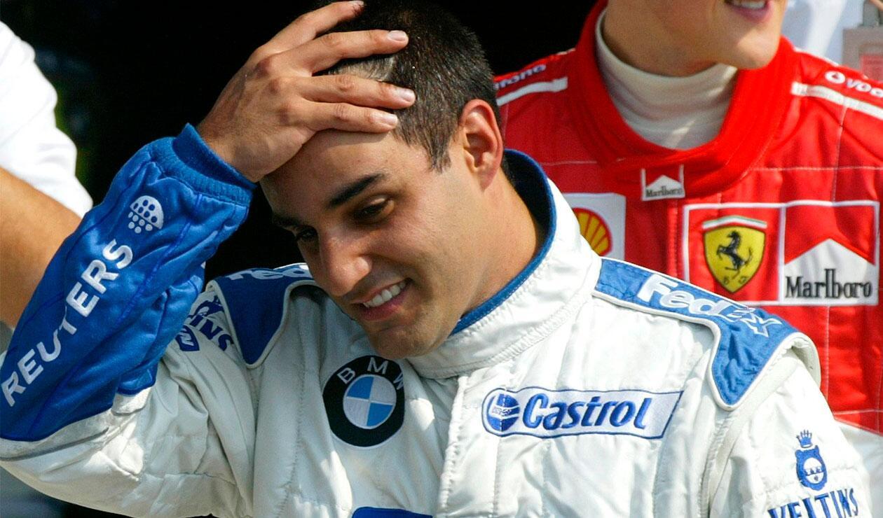 Juan Pablo Montoya cuando era piloto de Williams en la Fórmula 1