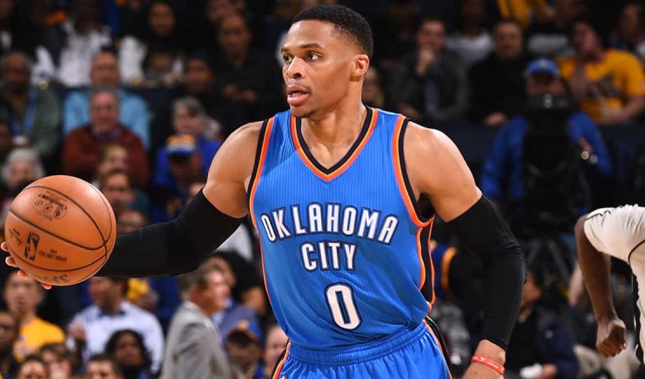 Russell Westbrook, estrella de Oklahoma City Thunder,