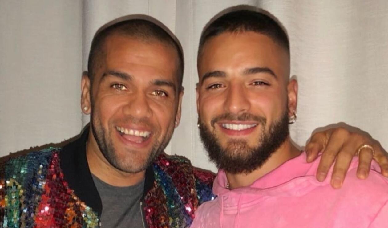 Dani Alves y Maluma