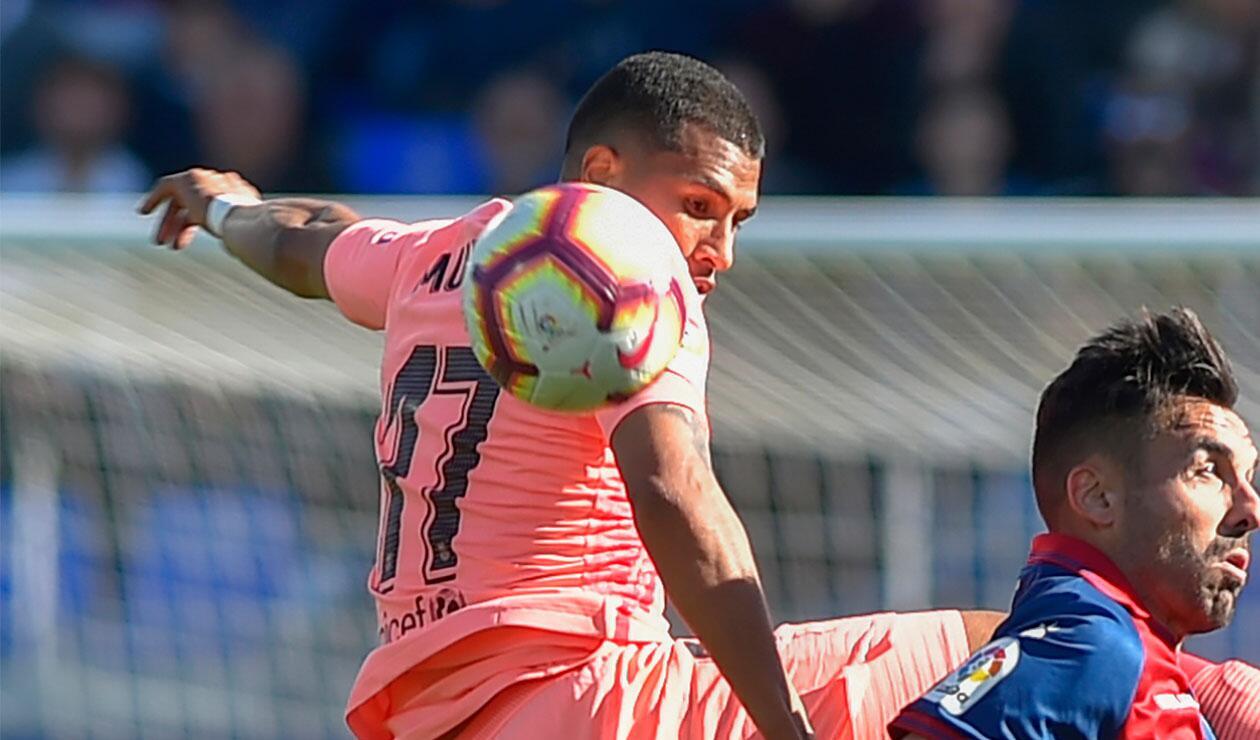Jeison Murillo, titular con el Barcelona frente al Huesca