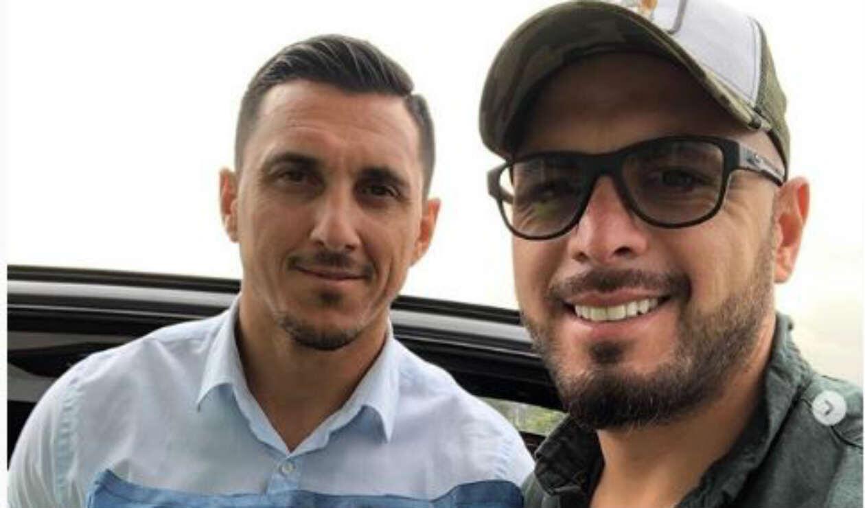 Omar Pérez recibió la visita de Nicolás Burdisso