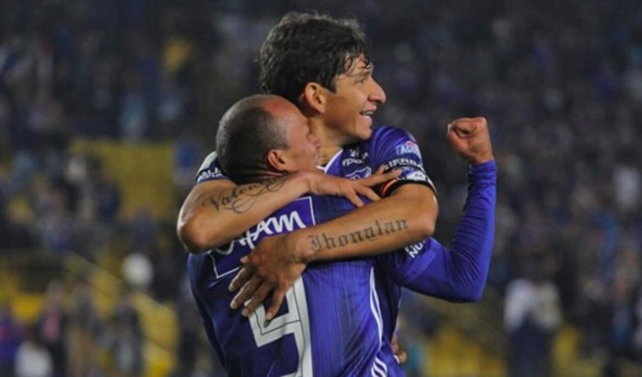 Roberto Ovelar y Juan David Pérez en Millonarios