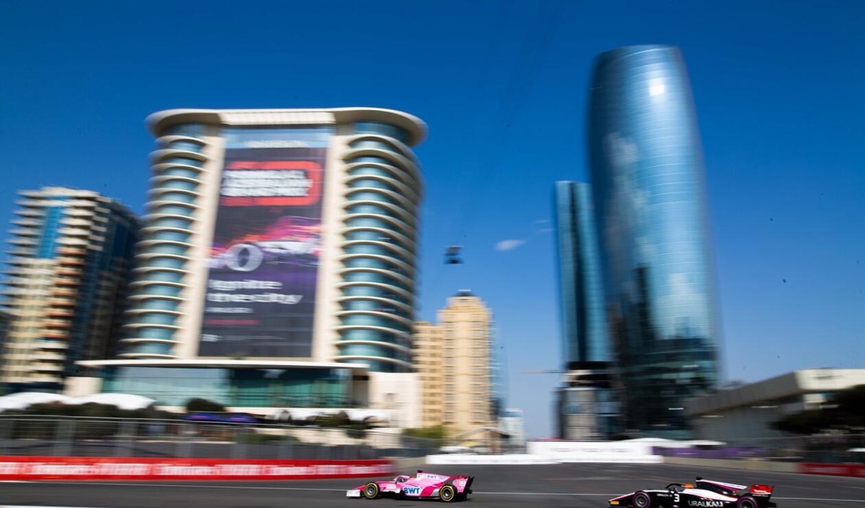 Tatiana Calderón en la válida de Azerbaijan de Fórmula 2