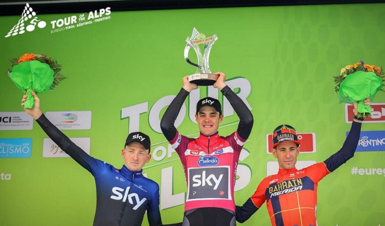 Podio Tour de los Alpes 2019