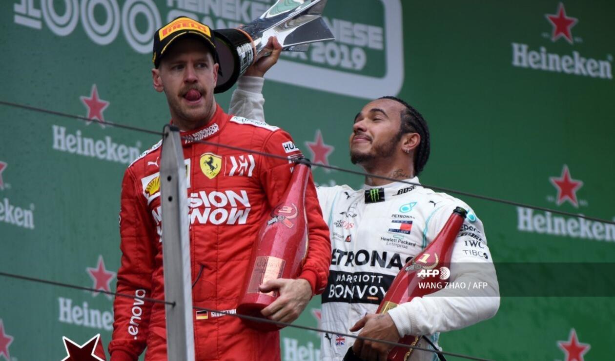 Sebastian Vettel cruzó tercero en el Gran Premio de China de Fórmula 1