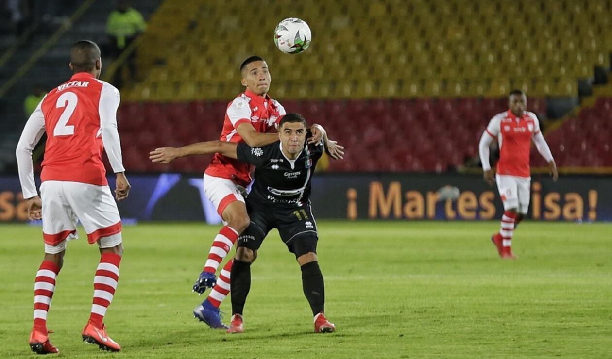 Juan Sebastián Pedroza en Santa Fe vs Once Caldas