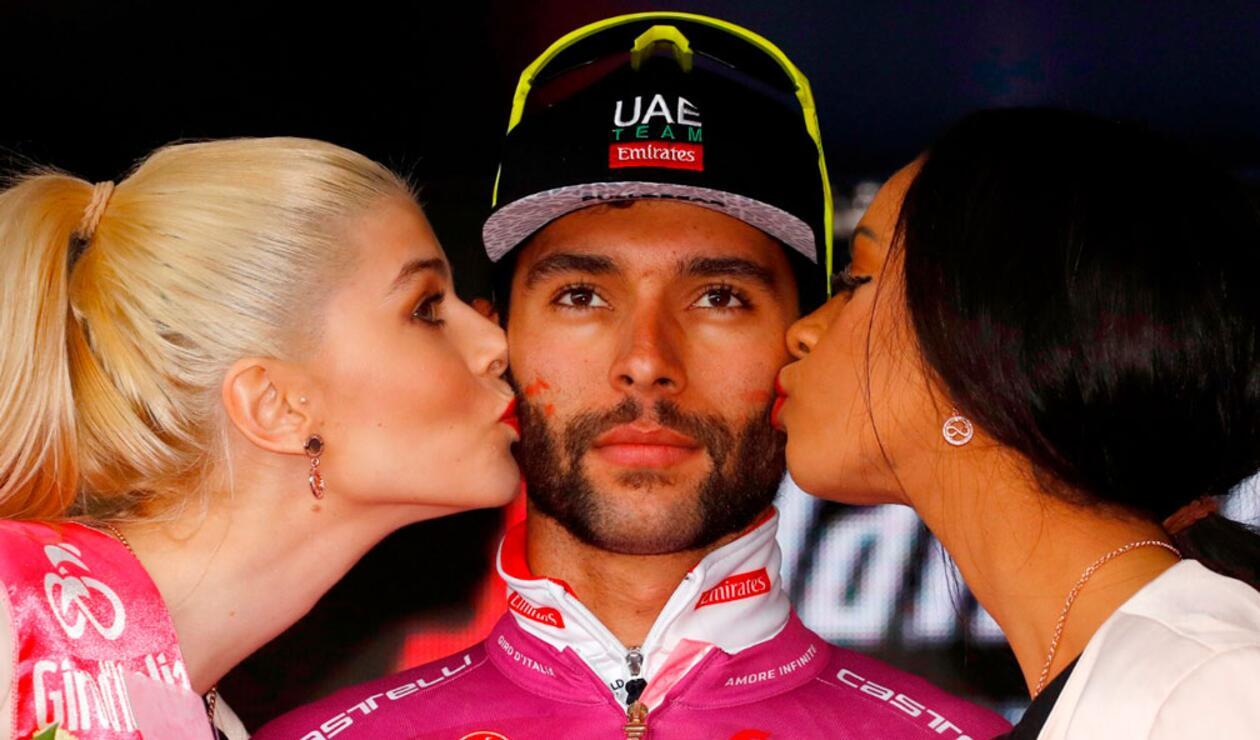 Fernando Gaviria, ciclista colombiano del UAE, en el Giro de Italia.