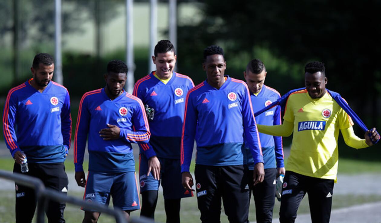 Selección Colombia entrenando en Bogotá
