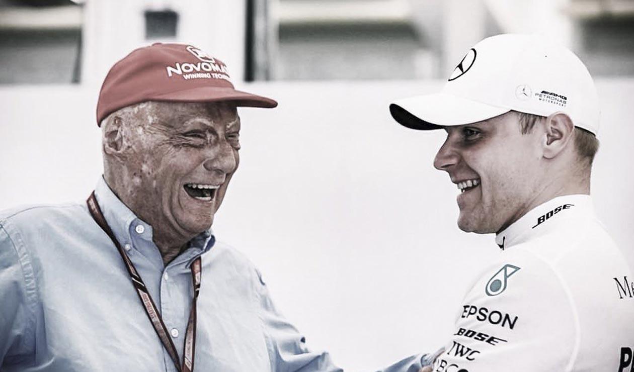 Niki Lauda y Valtteri Bottas