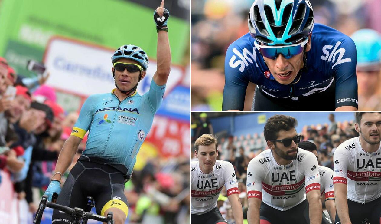 Giro de Italia tendrá la presencia de ocho ciclistas colombianos