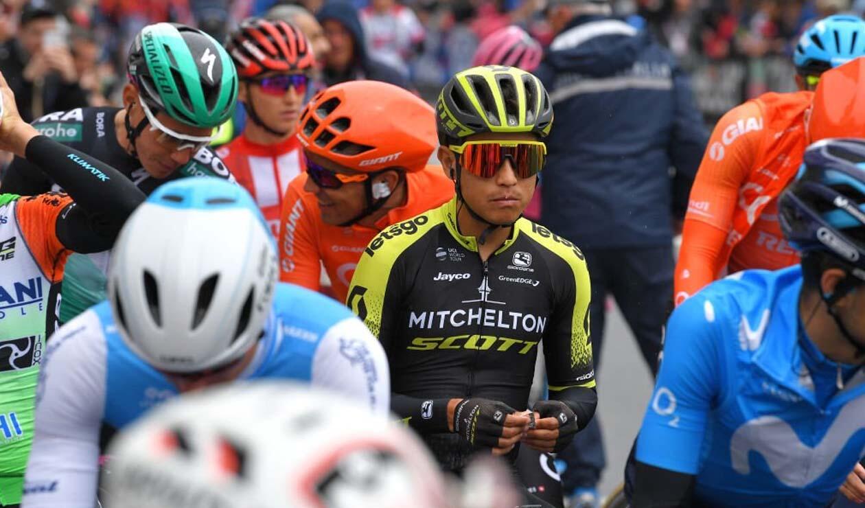 Esteban Chavez, ciclista colombiano disputando el Giro de Italia
