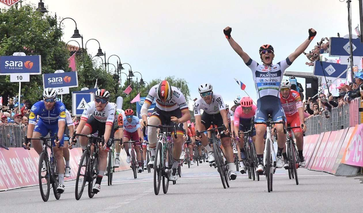 Damiano Cima (Nippo-Vini Fantini) fue el ganador de la fracción