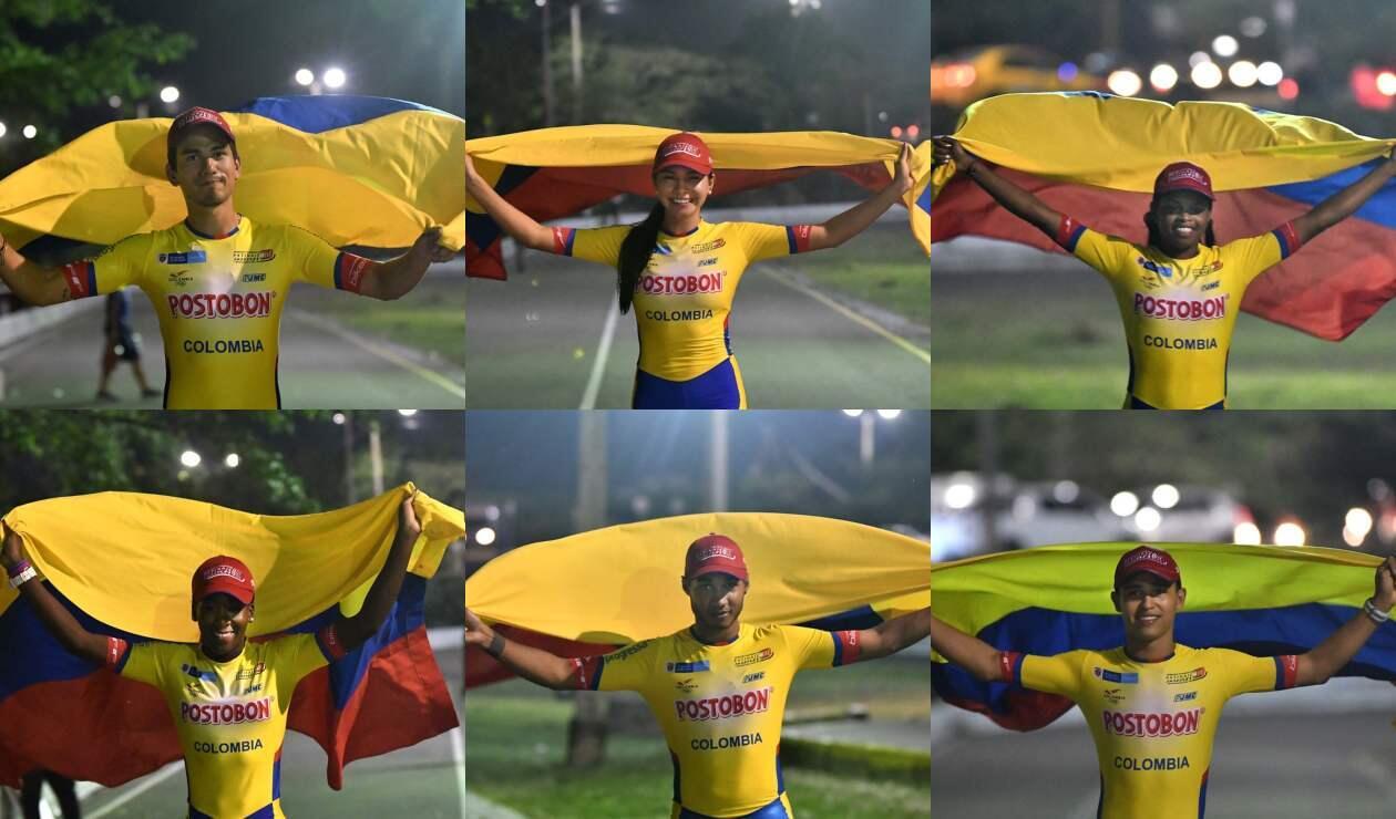 Patinadores colombianos