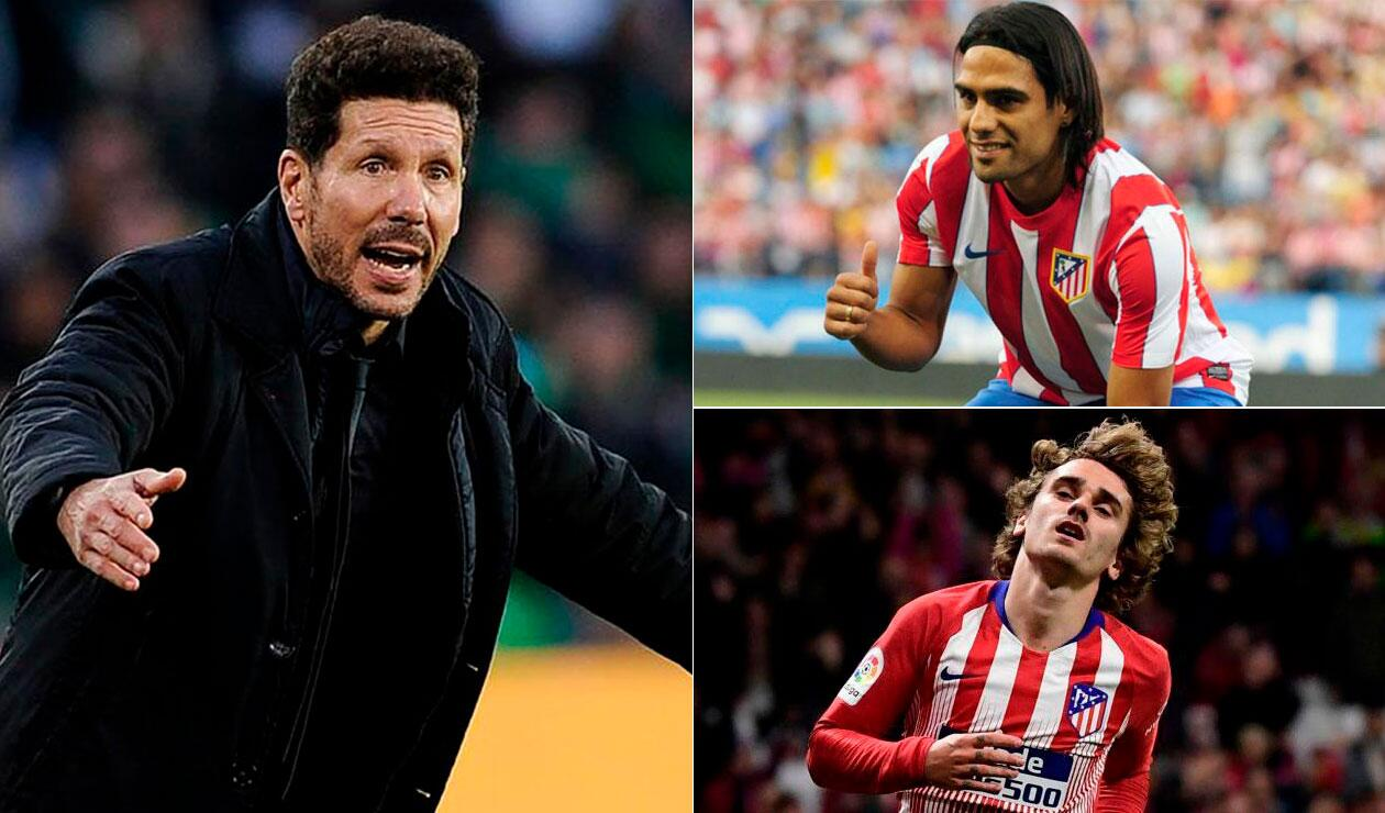 Simeone, Falcao, Griezmann, Atlético de Madrid