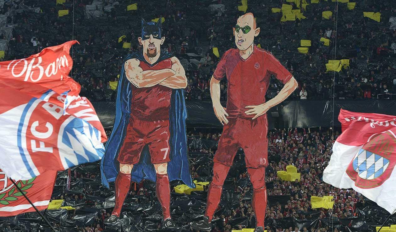 Homenaje de despedida a Robben, Ribery y Rafinha