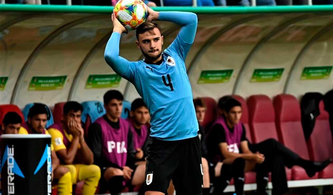 Un jugador de Uruguay durante el Mundial sub 20 de Polonia