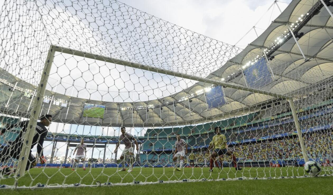 Primer gol de la Selección Colombia a Paraguay